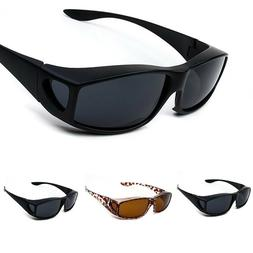 Polarized Solar Shield Fit Over Sunglasses Sport Driving Rec