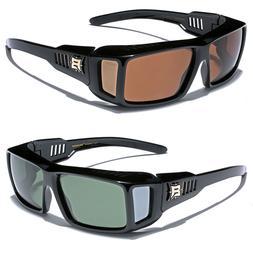 Polarized Sunglasses Men Women Rectangular Fit Over Prescrip