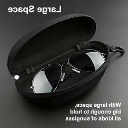 Portable Zipper Sunglasses Carry Box Case Eye Glasses Clam H