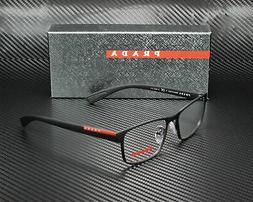 New Prada PR 50GV DG0-1O1 Black Frame Men Women Rectangular