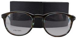 Prada PR19SV Eyeglasses 50-20-140 Striped Azure Brown UEN1O1