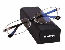 Agstum Pure Titanium Full Rim Glasses Frame Optical Eyeglass