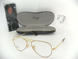 Ray-Ban Aviator Eyeglasses RB 6489 2945 58mm GOLD TOP ON HAV