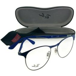 Ray Ban RB6365-2889 Round Women's Blue Frame Genuine Eyeglas