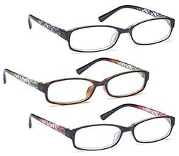 GAMMA RAY 3 Pairs Women Fashion Readers Thin Elegant Reading