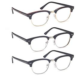 GAMMA RAY READERS 3 Pairs Men's Readers Quality Reading Glas