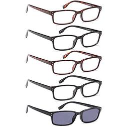 GAMMA RAY READERS 6 Pairs Men and Women Readers with Sun Rea