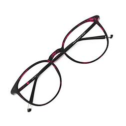 Reading Glasses 0.25 Violet Tortoise Round Eyeglasses Frames