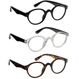 Reading Glasses 3 Pair Spring Hinge Professer Readers for Me