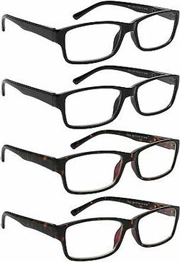 reading glasses 4 pack comfort spring hinge