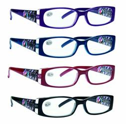 READING GLASSES 4 Pack Quality Stylish Designed Womens Glass