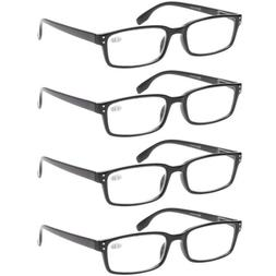 reading glasses 4 pack spring hinge comfort