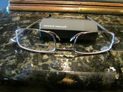READING GLASSES  2 PAIR COPPER COMPACT FOLDING  W/ CASE BY S