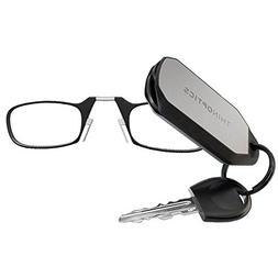 ThinOptics Reading Glasses + Keychain Case   Black Frames, 2
