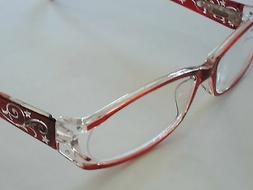 "Foster Grant ""Holland"" Reading Glasses with Loop & Case +1.0"