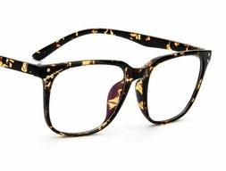 Retro Eyeglasses Men Women Square Frame Optical Transparent