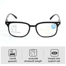 Retro Multifocal Progressive Reading Glasses Blue Light Bloc