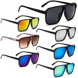 Retro Oversized Square Large Frame Sunglasses Men's Women's