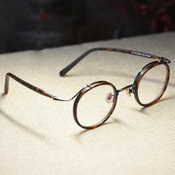 Retro Round Eyeglasses Frame John Lennon women dark tortoise