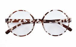 Agstum Retro Round Sun Glasses Frame Clear Lens Fashion Circ