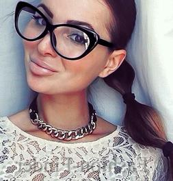 Retro Sexy Women Eyeglasses Frame Fashion Cat Eye Clear Lens