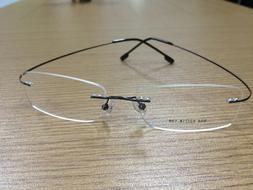 rimless titanium alloy unisex prescription eyeglass frames