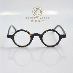 Round eyeglasses Retro 1960's mens circle frame glasses tort