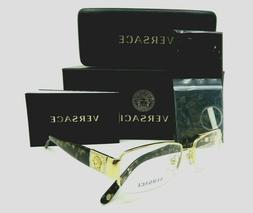 gold medusa havana semi rimless unisex glasses