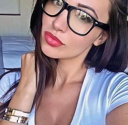Sexy Geek Square Glossy Clear Lens WaYfe Fashion HOT Women E