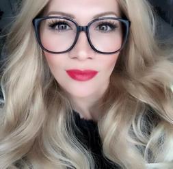 Sexy Women Thin Square Frames Clear Lens Smart Big Hot Fashi