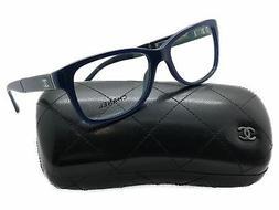 Chanel Square Blue Plastic 3232 Q 1427 54MM eyeglasses Italy