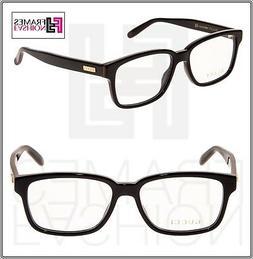 GUCCI STRIPE 0272 Black Square Eyeglasses Optical Frame 53mm