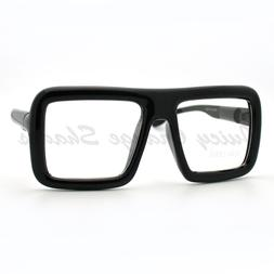 Thick Square Glasses Clear Lens Eyeglasses Frame Super Overs