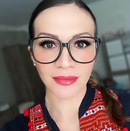 Thin Square Frames Big Fashion WaYfe Women Clear Lens Large