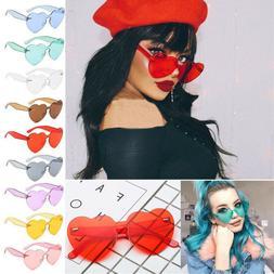 Tint Women Rimless Frame Clear Eyeglasses Cat Eye Sun Glasse