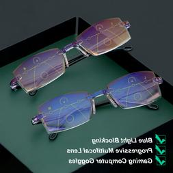 Ultralight Reading Glasses Progressive Multifocal Diamond-cu