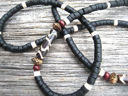 Unisex Mens Black Coconut Shell Bone Beads Eyeglass Chain Ho