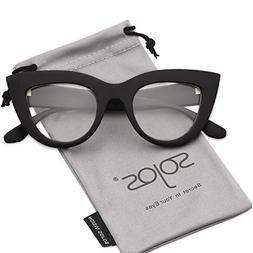 SOJOS Vintage Cateye Eyeglasses for Women Eyewear Frame Clea