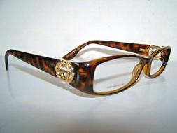 Vintage Gucci Eyeglass Frames NEW Authenic Tortoise Gold Met