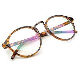 vintage inspired eyeglasses frame round circle clear