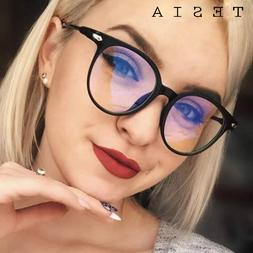 Vintage Round <font><b>Clear</b></font> Glasses Women Transp
