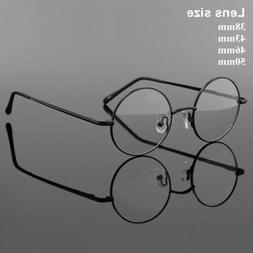 Vintage Round Glasses Frames Eyeglasses Metal Rx Optical for