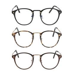 Vintage Round Optical Non-prescription Glasses Eyewear Frame