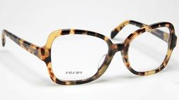 PRADA VPR 25S F 7S0-1O1 Eyeglasses Glasses Yellow Brown Hava