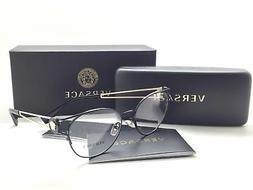 Versace Women Black Round New Eyeglasses MOD 1250 1009 52 Me