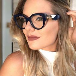Women Eye Glasses Plastic Myopia Vintage Lens Frame Solid Ey