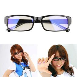 Women/Men Unisex Clear Lens Black Frame Eyeglasses Glasses S