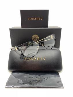 Versace Women's Black & Gold Glasses with Box MOD 1250 1009