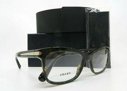 PRADA Women's Tortoise Glasses with case VPR 10R 2AU-1O1 53m