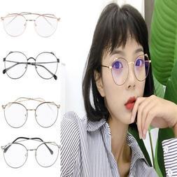 Women Vintage Round Metal Optical Eyewear Non-prescription E